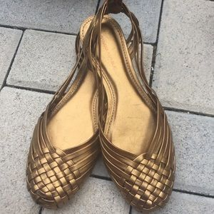 Banana Republic Sandals Sz 5.5 Woven Leather